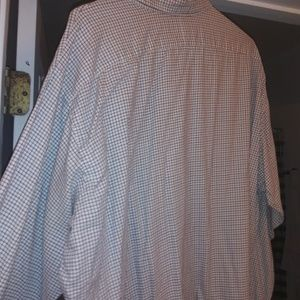 2x brown / blue n gray plai polo button down casua